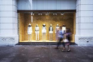 Vitrine de loja de moda