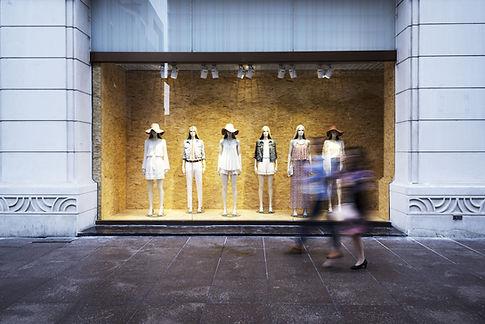 Vetrina del negozio di moda