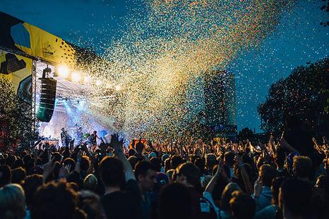 Confetti at Live Show