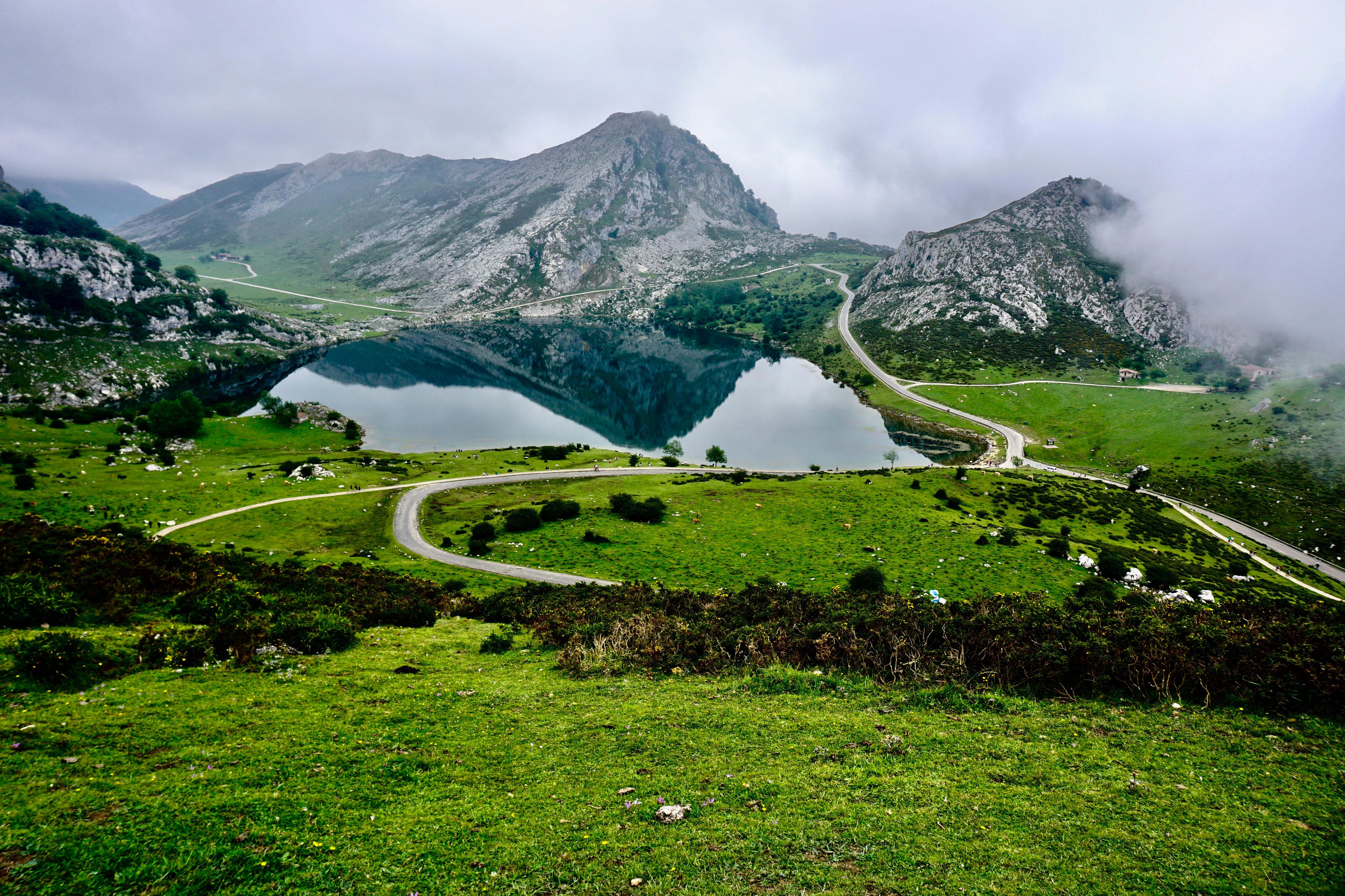 Montañas y campos
