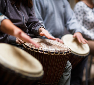 Group on Drums