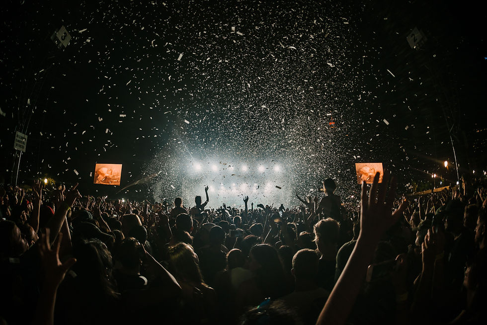 コンサート群集