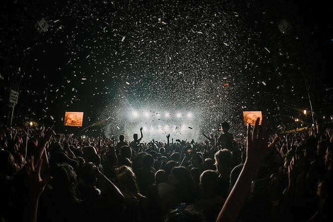 コンサートでの群集