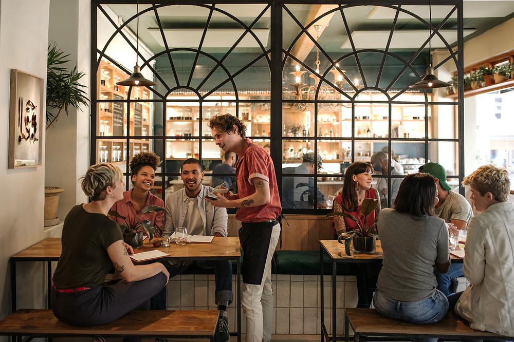restaurante comida camarero cena supermercado compra tupper