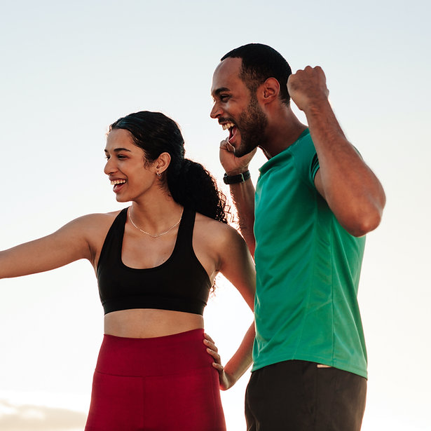 Couple in Sportswear