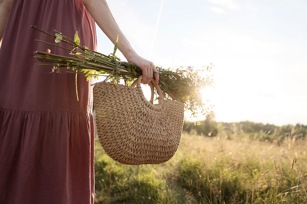 Basket and Wild Flowers