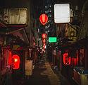 飲み屋街の赤提灯