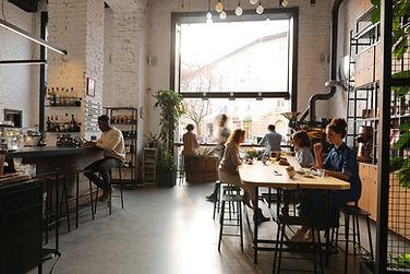 Busy cafe interior