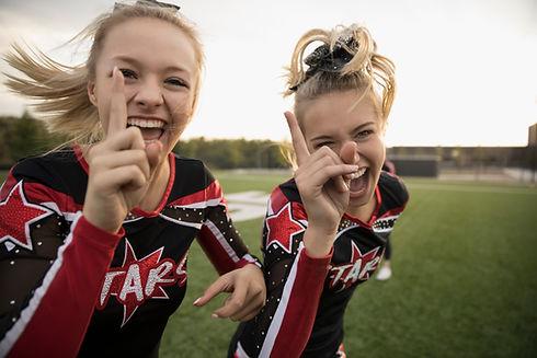 Cheerleaders at Cheer Camp