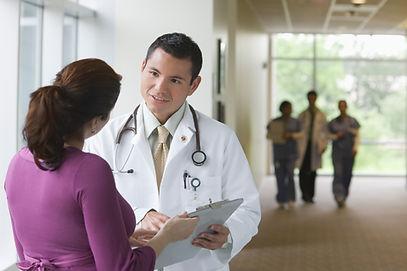 Doutor e paciente