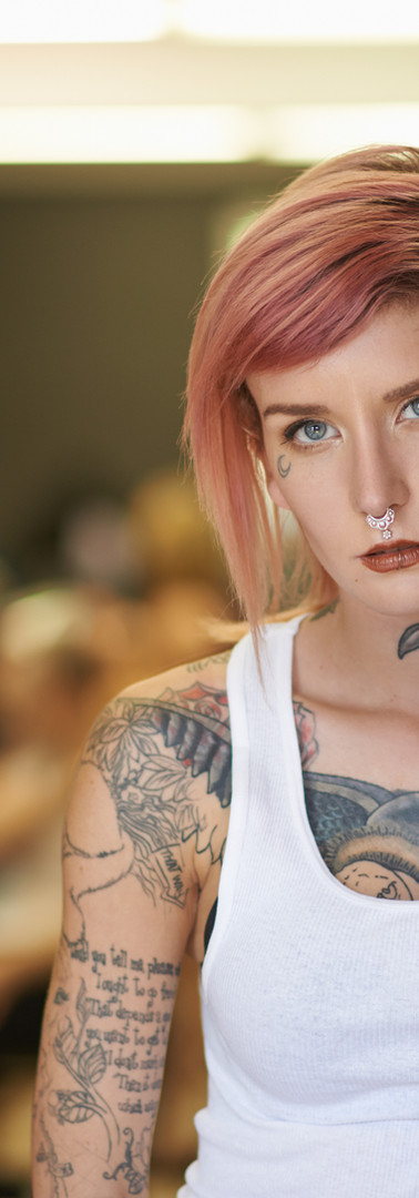 Young Girl with Tattoo