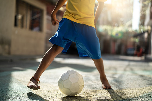 Jogador de futebol jovem