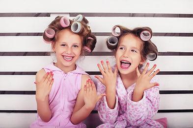 Glückliche Mädchen Makeovers
