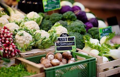Frisches Gemüse zu verkaufen