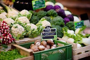 Legumes frescos para venda