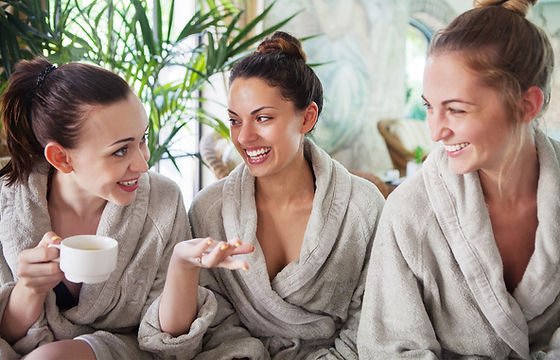Women enjoying a spa day together no financial worries and no debt Paisley UK