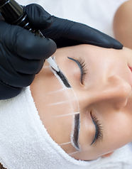 Microblading creating perfect brows