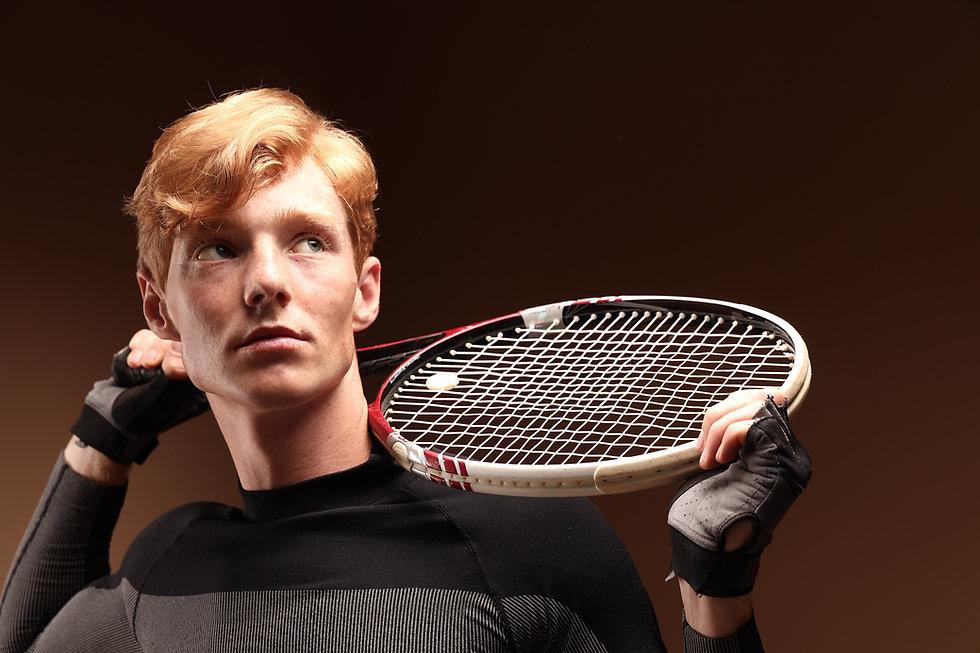 Portrait de joueur de tennis