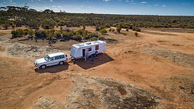 Caravan in the Australian Outback