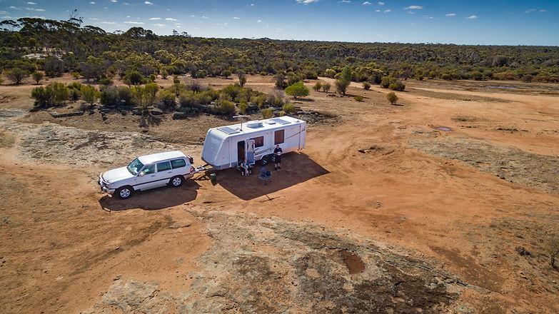 Caravan in the Australian Outback