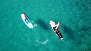 Image aérienne paddle