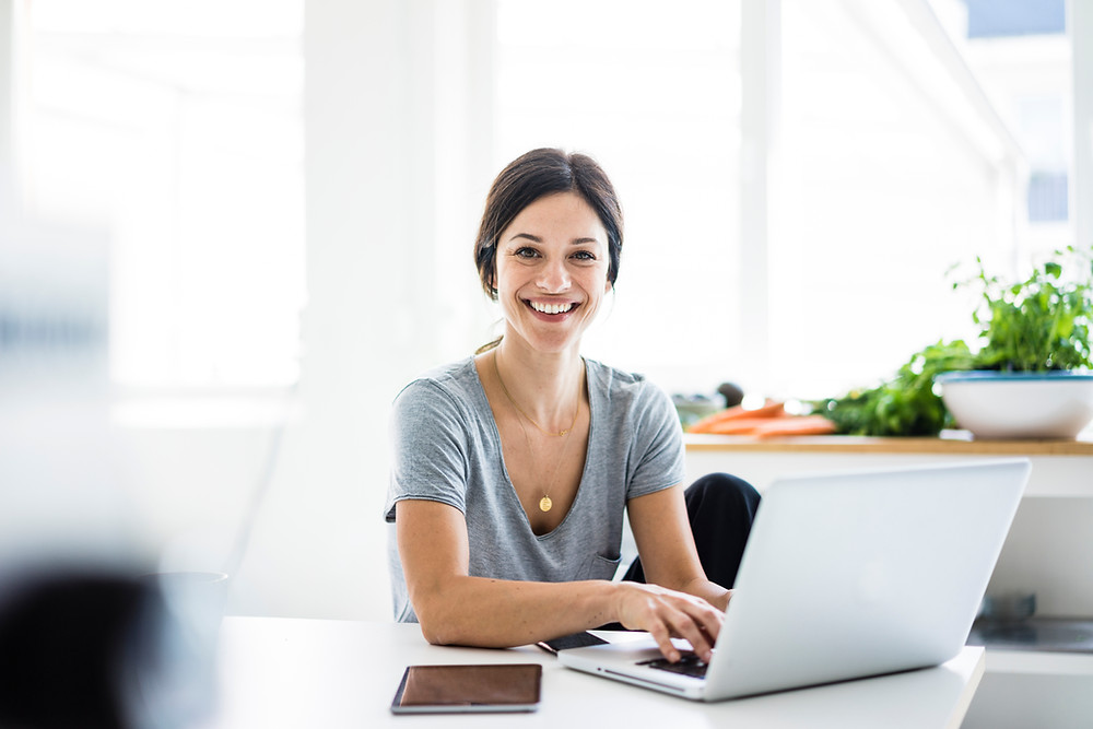 Successful Business Woman Working from Home
