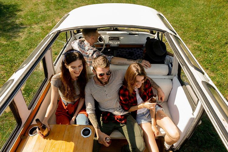 Amis en camping-car