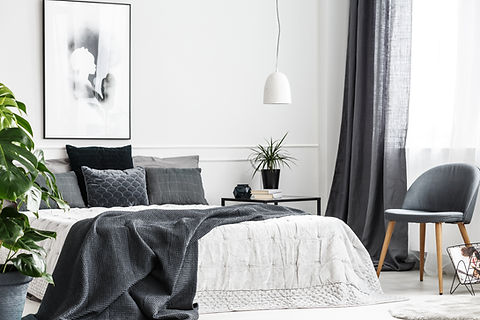 Gray Theme Bedroom interior modern and stylish by Phoenix Decorators Worcester 2021