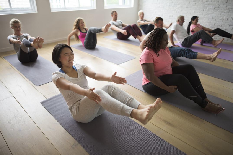 Fun in yoga