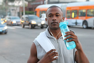 Man With Water Bottle