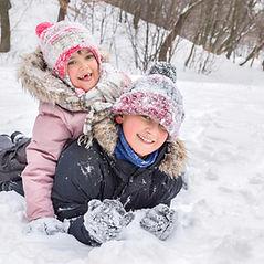 Siblings in Snow