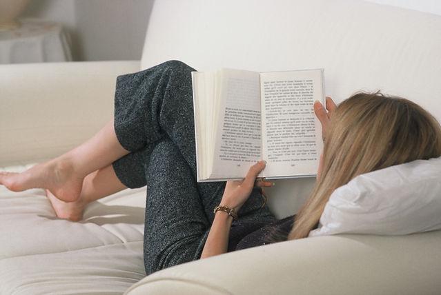 自宅で読書