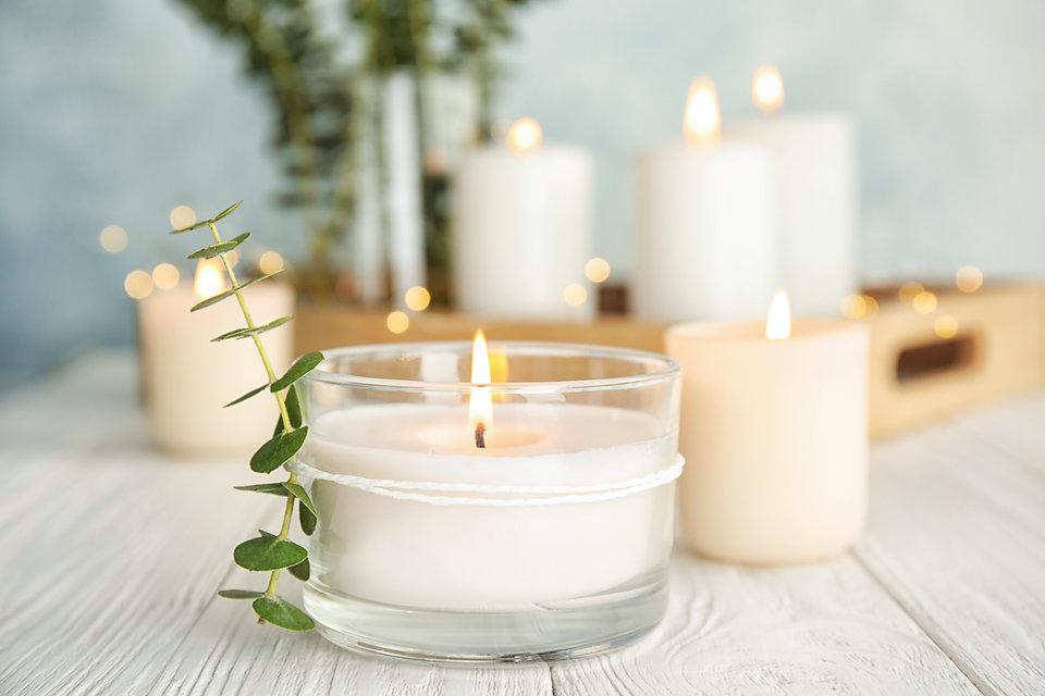 Candles & Plants