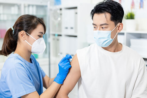 Person Getting Vaccinated