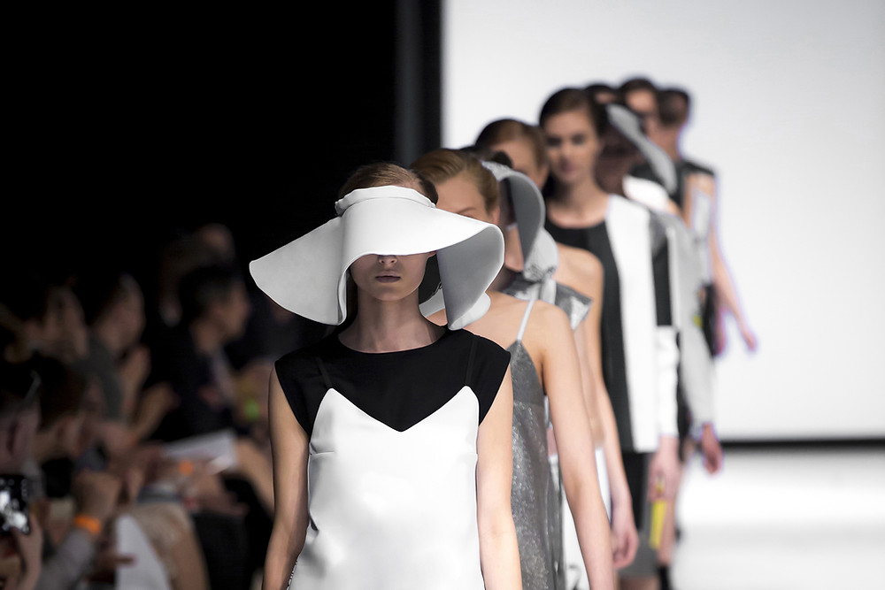 Models on a runway at a fashion show