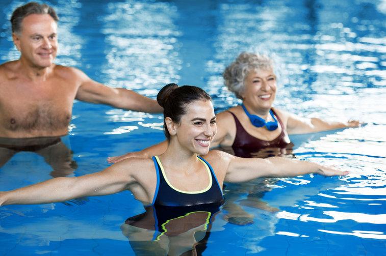 Aerobic Class in Pool