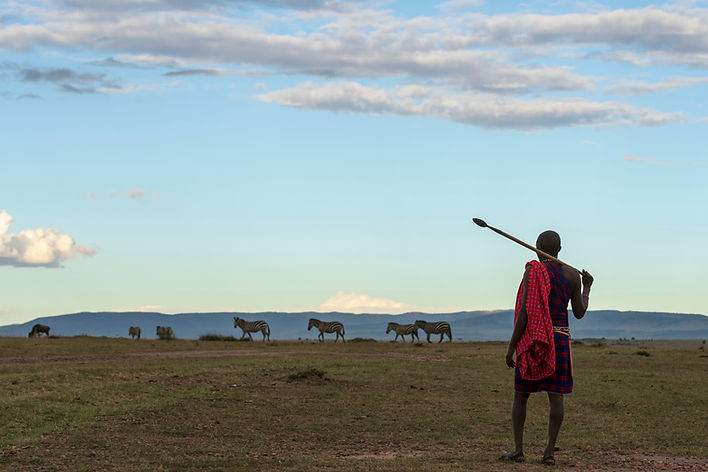 African Masai in Traditional Dress