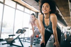 Fitnessende vrouwen
