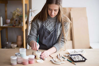 Artist Making Jewelry