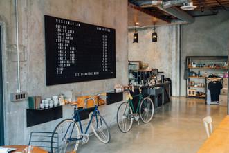 Café de la pared de concreto
