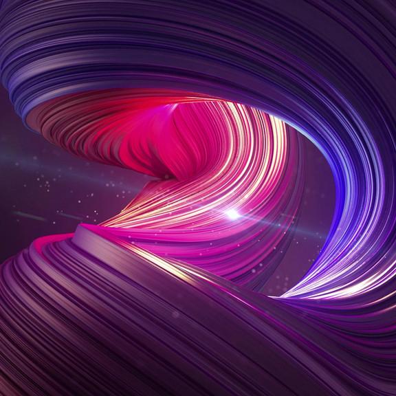 3D Bunte Swirl