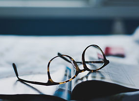 Eyeglasses on Magazine
