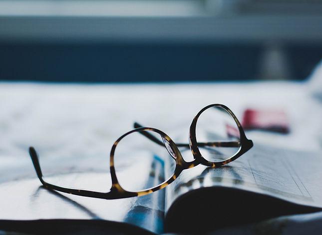 Eyeglasses on Magazine