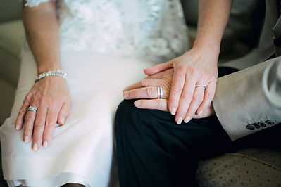 Senior Bride and Groom