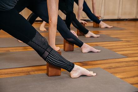 Iyengar Yoga Class Triangle