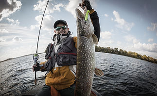 Fisherman and Trophy Pike