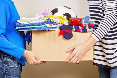 Don de vêtements et d'objets