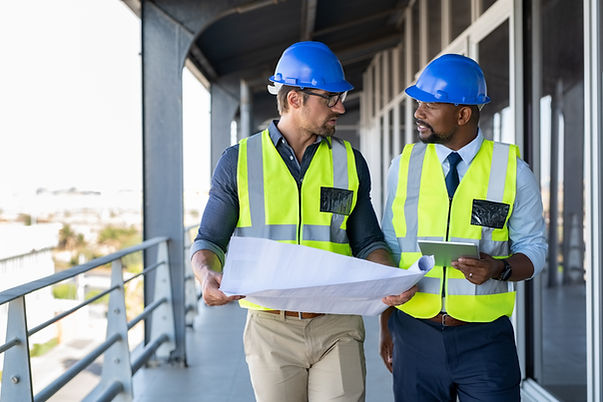 Construction Site Managers efficiently managing new build construction