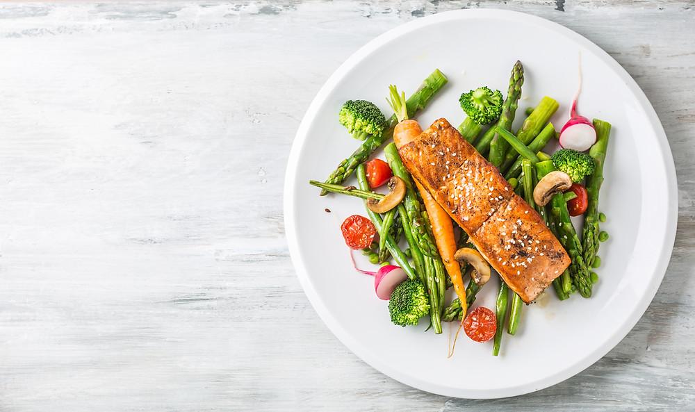 Salmon portion omega 3