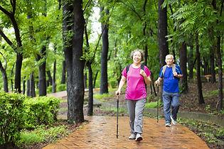 Couple Trail Hiking
